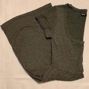 BDG Dresses - BDG urban outfitters Soft, Grey, T-shirt Dress